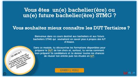 Module interactif d'information STMG IUT